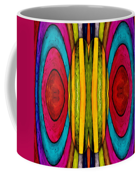 Color Colorful World Painting Abstract Expressionism Impressionism Modern Art Coffee Mug featuring the painting Colorful World by Steve K