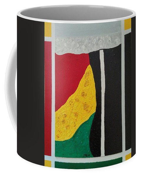 Line Coffee Mug featuring the painting Colors by Earnestine Clay