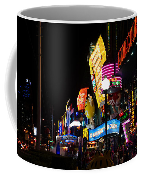 Neon Coffee Mug featuring the photograph Colors Of Las Vegas by RicardMN Photography