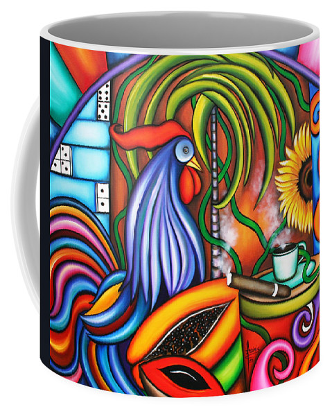 Cuba Coffee Mug featuring the painting Colors Of My World by Annie Maxwell