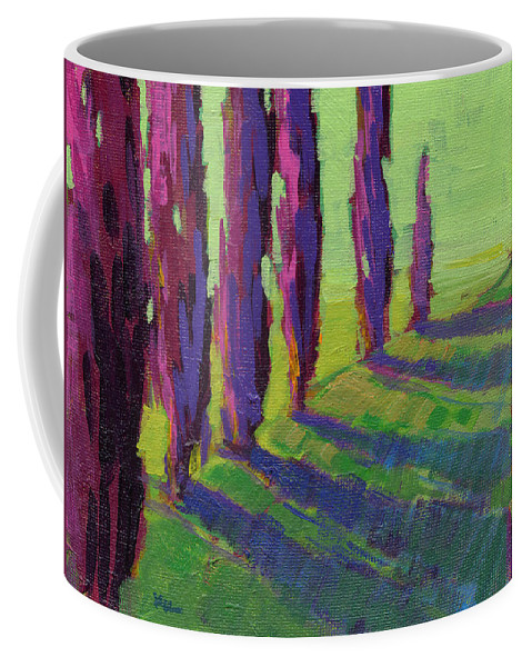 Konnie Kim Coffee Mug featuring the painting Colors Of Summer 1 by Konnie Kim