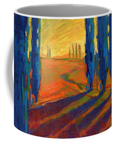 California Coffee Mug featuring the painting Colors Of Summer 2 by Konnie Kim