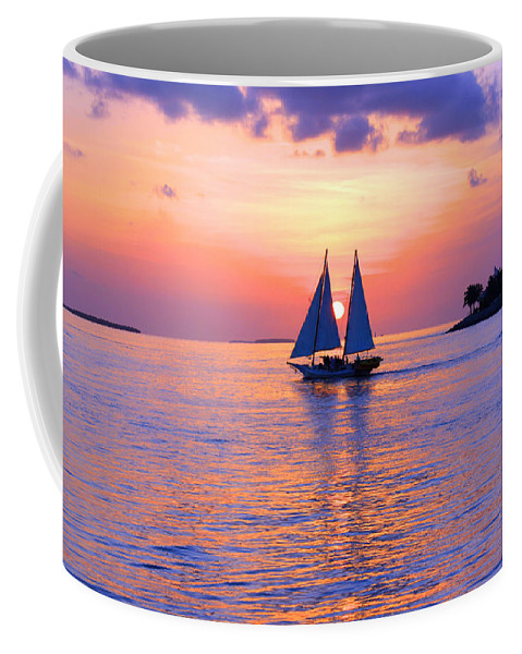 Sea Coffee Mug featuring the photograph Colors Of Sunset by Iryna Goodall