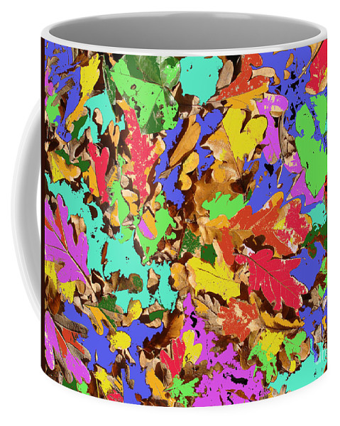 Autumn Coffee Mug featuring the photograph Coloured Oak Leaves By M.l.d. Moerings 2009 by Marion Moerings