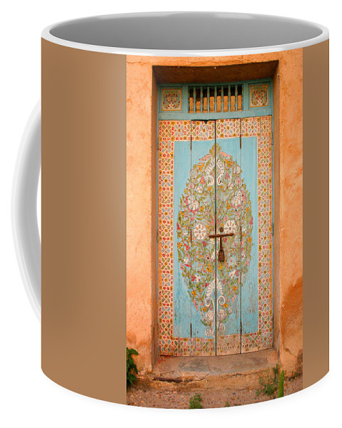 Door Coffee Mug featuring the photograph Colourful Moroccan Entrance Door Sale Rabat Morocco by Ralph A Ledergerber-Photography