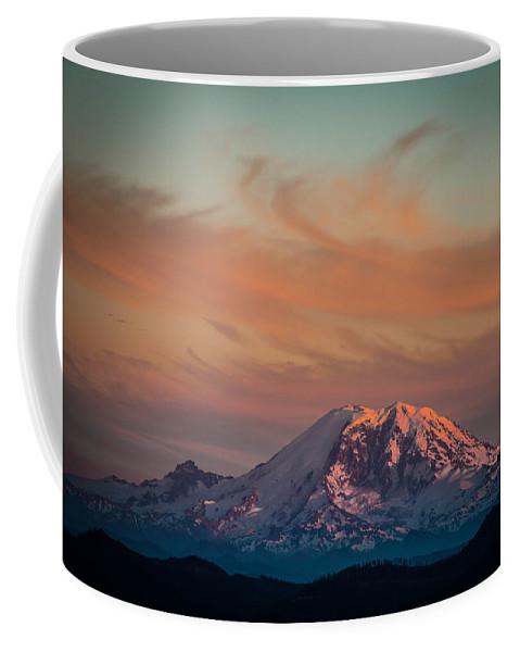 Mt Rainier Coffee Mug featuring the photograph Columbia Crest by Ryan McGinnis