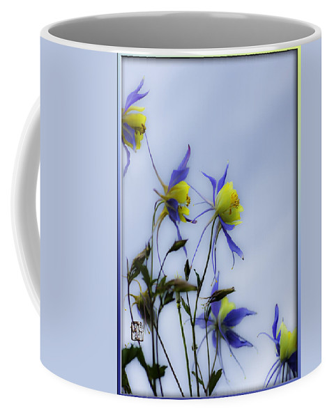 Columbine Flowers Coffee Mug featuring the photograph Columbines by Peter v Quenter