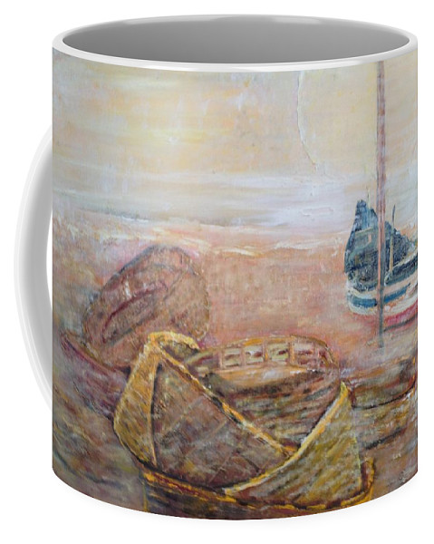 Beach Coffee Mug featuring the painting Colva by Peggy Blood
