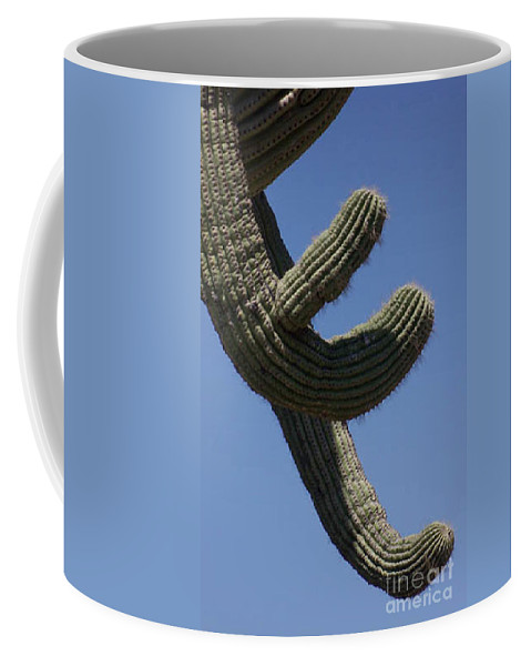 Saguaro Coffee Mug featuring the photograph Come Hither by Kathy McClure
