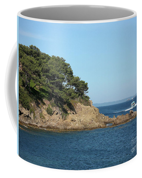 Fishing Boat Coffee Mug featuring the photograph Coming Back by Christiane Schulze Art And Photography