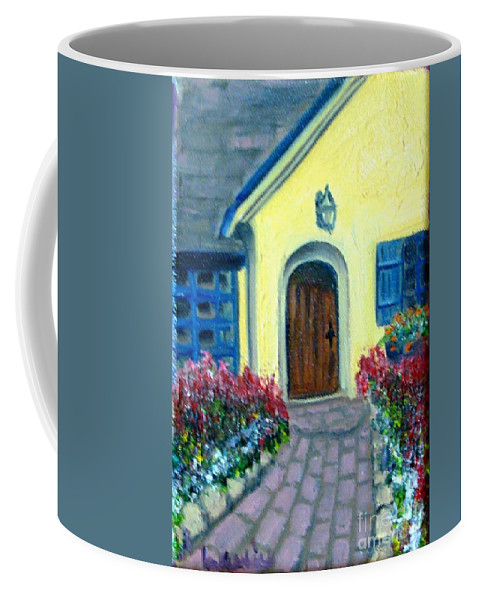 Cottage Coffee Mug featuring the painting Coming Home by Laurie Morgan