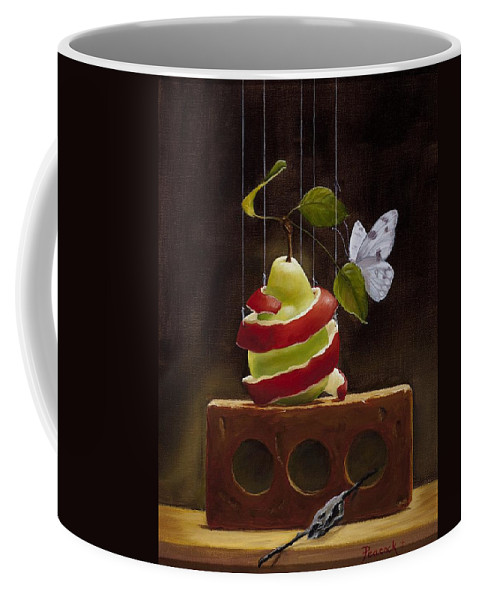 Still Life Coffee Mug featuring the painting Coming Out by Paula Peacock