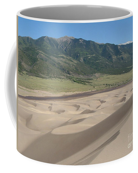 Great Dunes Photographs Canvas Prints Colorado Rocky Mountain Desert Range Landscape Coffee Mug featuring the photograph Composition Divide by Joshua Bales