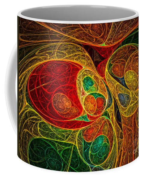 Abstract Coffee Mug featuring the digital art Conception Abstract by Olga Hamilton