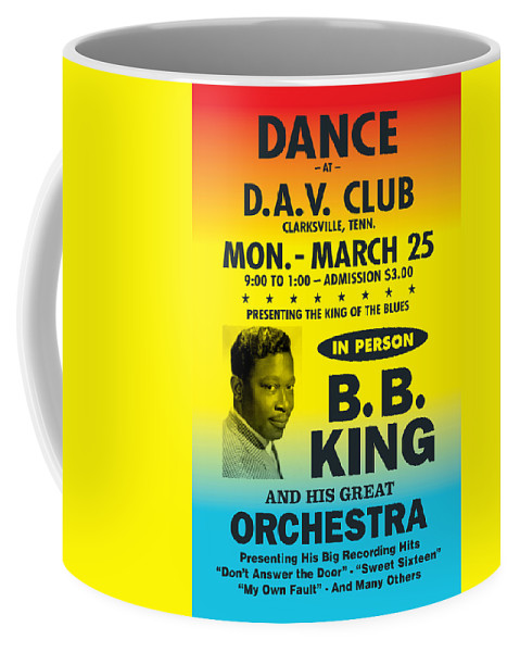 Antique Coffee Mug featuring the digital art Concert Poster by Gary Grayson