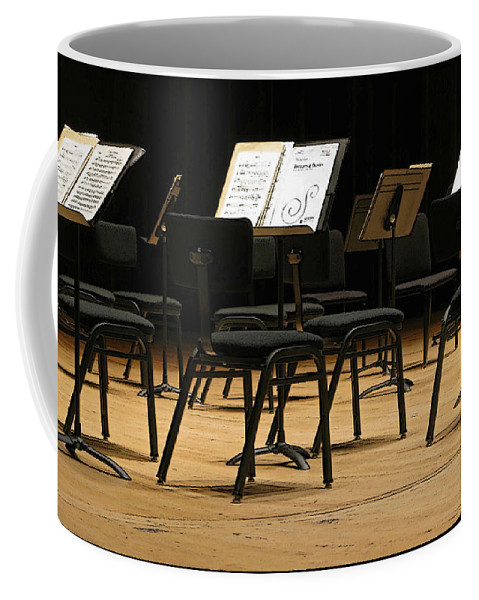 Intermission Coffee Mug featuring the photograph Concert Time Out by Ann Horn