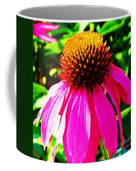 Thistle Coffee Mug featuring the painting Cone Flower by Eric Schiabor