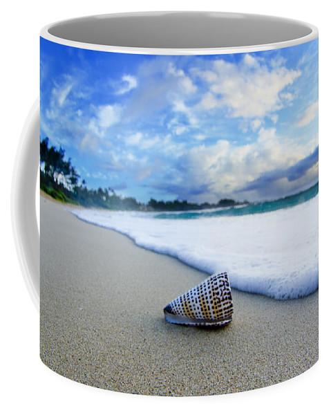 At The Beach Coffee Mug featuring the photograph Cone Foam by Sean Davey