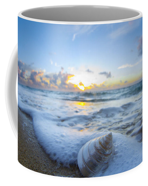 Cone Shell Coffee Mug featuring the photograph Cone Shell Foam by Sean Davey