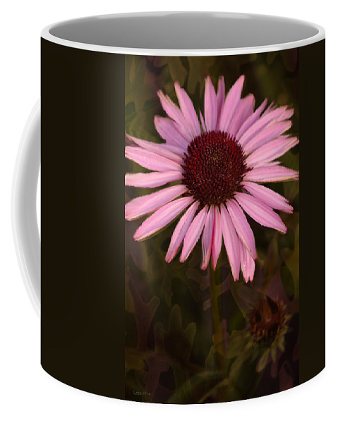 Purple Coffee Mug featuring the photograph Coneflower And Dusty Miller by Lesa Fine