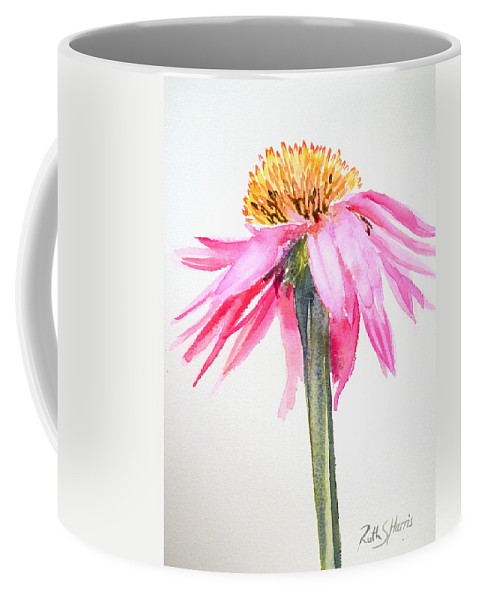 Echinacea Coffee Mug featuring the painting Coneflower by Ruth Harris