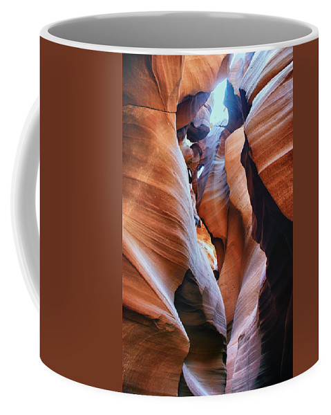 Antelope Canyon Coffee Mug featuring the photograph Confined Spaces by Brian Kerls