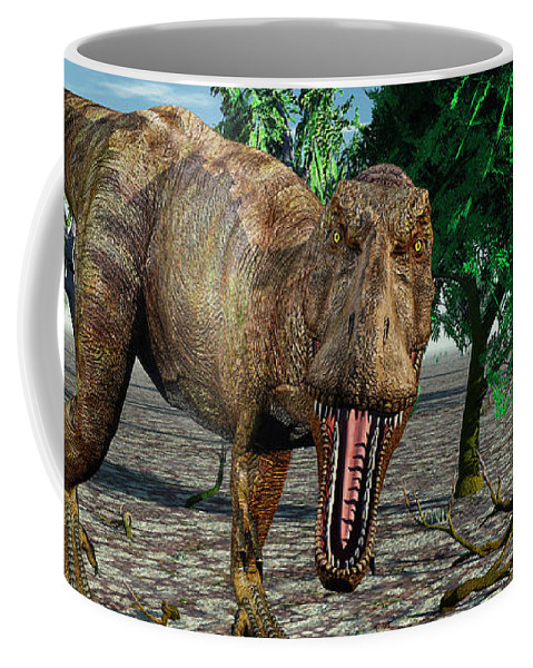 Horizontal Coffee Mug featuring the photograph Confrontation With A Carnivorous by Mark Stevenson