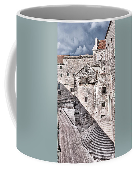 Conic Stairs Coffee Mug featuring the photograph Conic Stairs In The White City by Weston Westmoreland