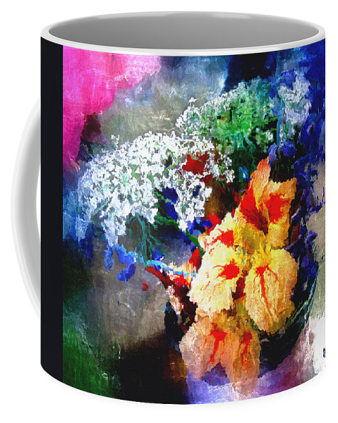 Delphinium Coffee Mug featuring the digital art Conjuring Claude Monet by RC DeWinter