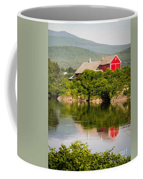 Collection Coffee Mug featuring the photograph Connecticut River Farm by Edward Fielding