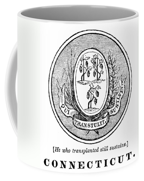 18th Century Coffee Mug featuring the photograph Connecticut State Seal by Granger