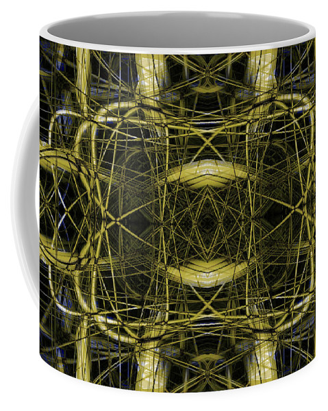 Abstract Coffee Mug featuring the digital art Connections 4 by Steve Ball
