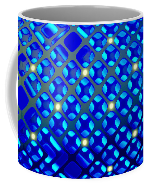 Bright Blue Abstract Coffee Mug featuring the digital art Constellation by Pamela Smale Williams