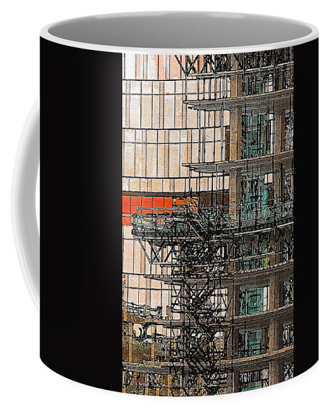 Construction Coffee Mug featuring the photograph Construction by Tom Janca