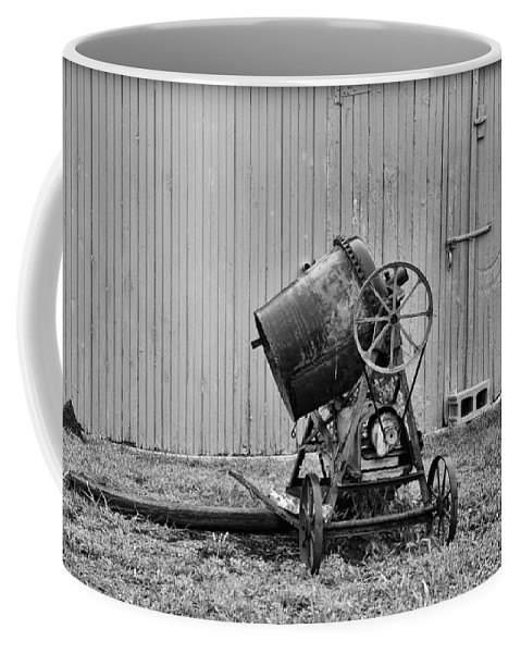 Paul Ward Coffee Mug featuring the photograph Construction - Vintage Cement Mixer by Paul Ward