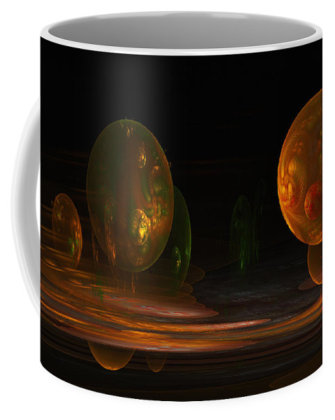 Fractal Coffee Mug featuring the digital art Consumed From Within by GJ Blackman