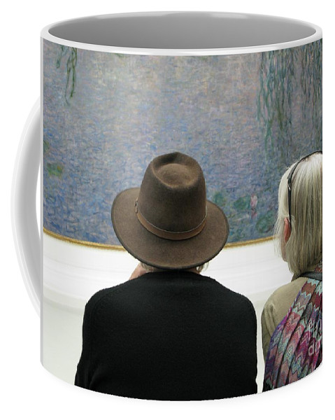 People Coffee Mug featuring the photograph Contemplating Art by Ann Horn