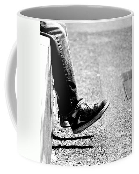 Feet Coffee Mug featuring the photograph Contemplating Steps by The Artist Project