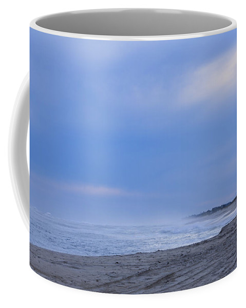 Deep In Thought Coffee Mug featuring the photograph Contemplation In Blue by Steve Gravano