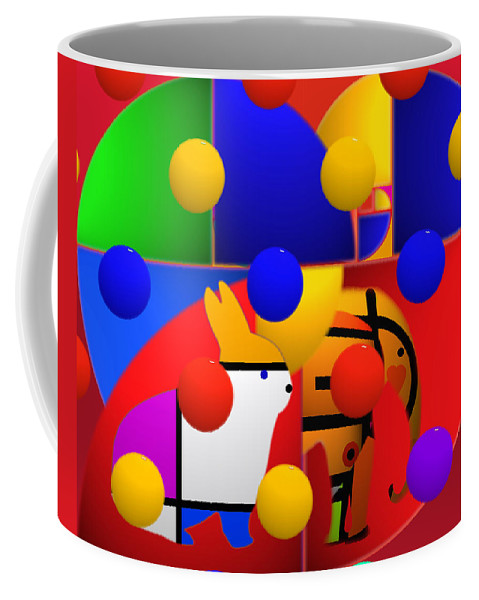 Colors Coffee Mug featuring the painting Contemporary Art by Charles Stuart