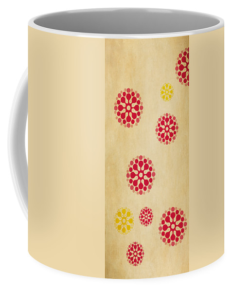 Contemporary Coffee Mug featuring the mixed media Contemporary Dandelions 1 Part 1 Of 3 by Angelina Vick