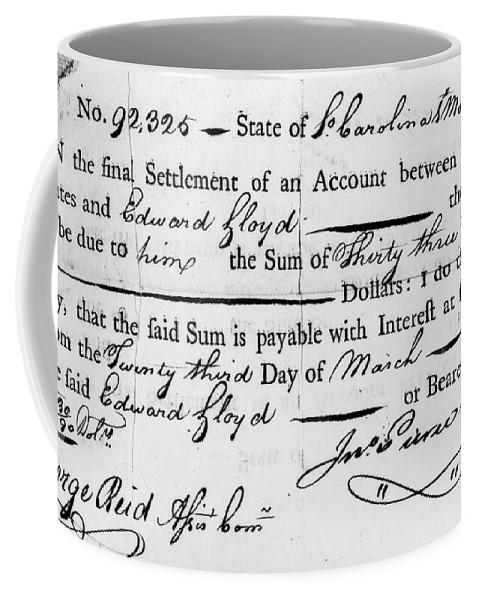 1783 Coffee Mug featuring the photograph Continental Army: Pay by Granger