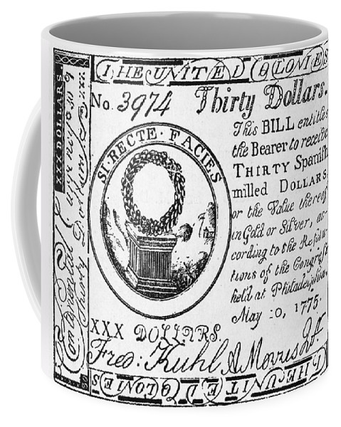 1775 Coffee Mug featuring the photograph Continental Banknote, 1775 by Granger