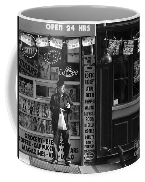 New York Coffee Mug featuring the photograph Convenience Store by Miriam Danar