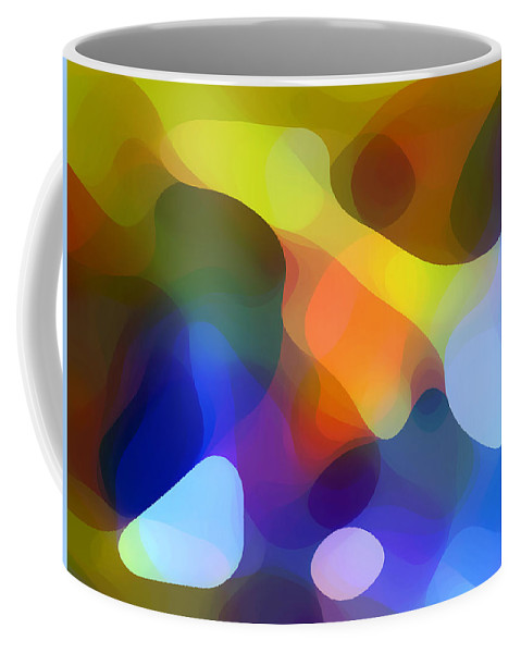 Bold Coffee Mug featuring the painting Cool Dappled Light by Amy Vangsgard