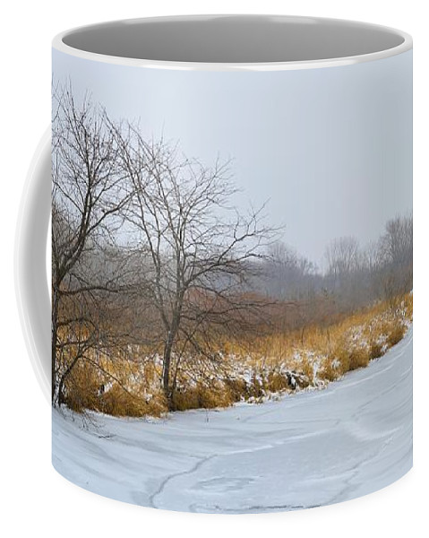 River Coffee Mug featuring the photograph Cool Dreams Winter by Bonfire Photography