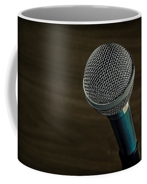 Technology Coffee Mug featuring the photograph Cool Microphone by Phil Cardamone