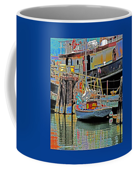 Coos Bay Oregon Coffee Mug featuring the photograph Coos Bay At Berth by Joseph Coulombe
