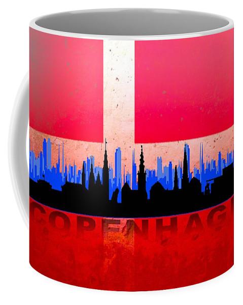 Architecture Coffee Mug featuring the digital art Copenhagen City by Don Kuing