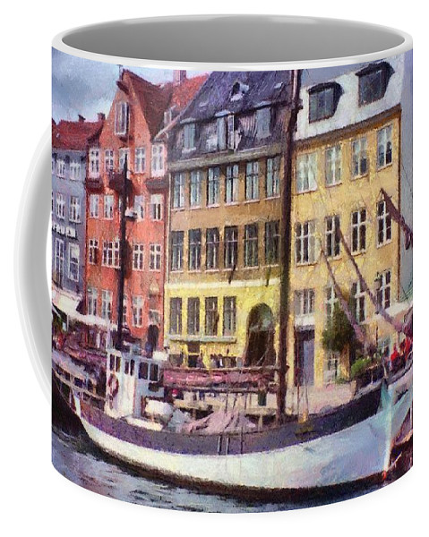 Scandinavia Coffee Mug featuring the painting Copenhagen by Jeffrey Kolker
